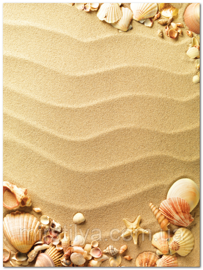 Кафель панно Песок и ракушки,  плитка 20х30см.