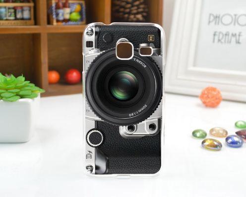 Чехол силиконовый бампер для Samsung J1 mini Galaxy J105 с рисунком Фотоаппарат