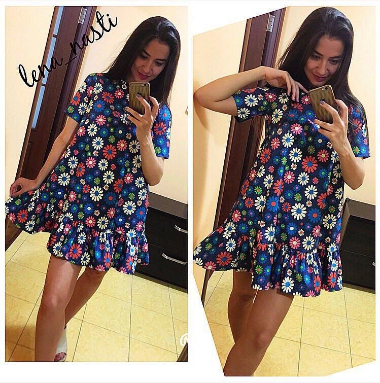 Красивое платье с цветочками