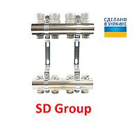 Коллектор SD Group на 6 выходов без расходомеров