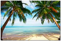 Кафель панно Пальмы, пляж и море, плитка 20х30см.
