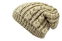 Женская шапка приспущенная вниз