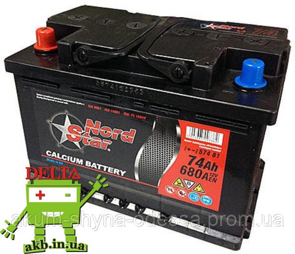 Аккумулятор NORD STAR 6СТ- 77Ah 700A R