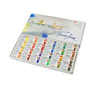 Набор акварельных красок Белые ночи 24 цвета по 2,5 мл в кюветах картонная коробка «Невская палитра»