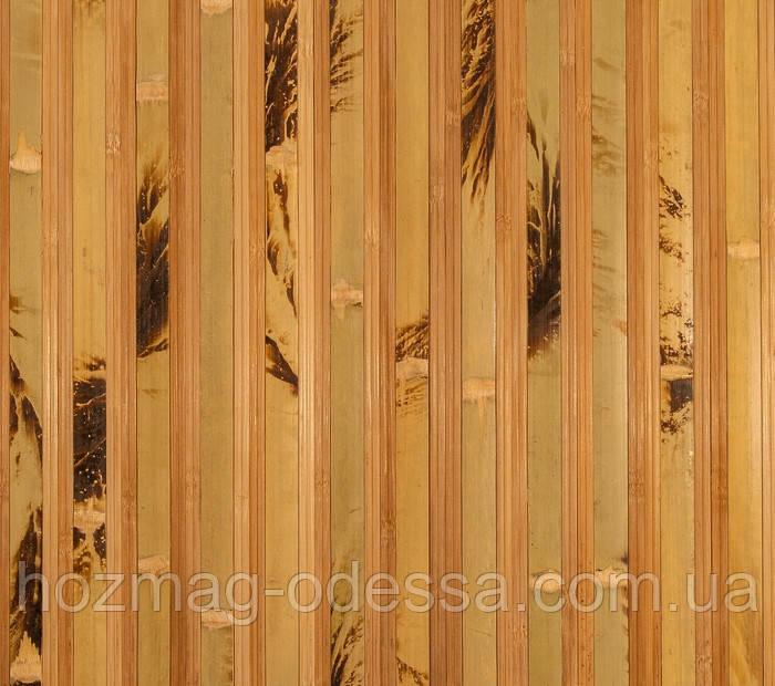 Бамбуковые обои  черепаховые темные с пропилом 17/8 , ширина 200 см.