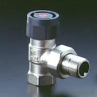"""Угловой термостатический вентиль с преднастройкой для железной трубы (1/2"""" - 30х1,5)"""