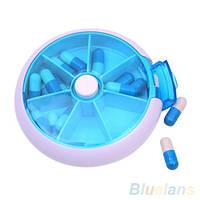 7-дневный круглый контейнер для таблеток  и капсул Hot7-Day, фото 1
