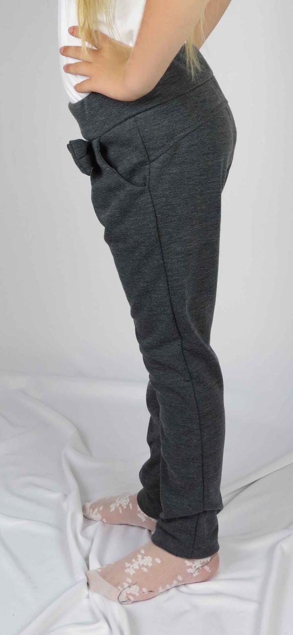 Штаны бант школьные  цвет серый размер 5-7 лет, фото 4