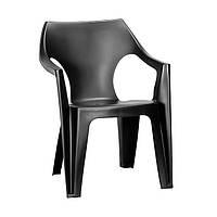 Пластиковое кресло Allibert Dante low back серое, фото 1