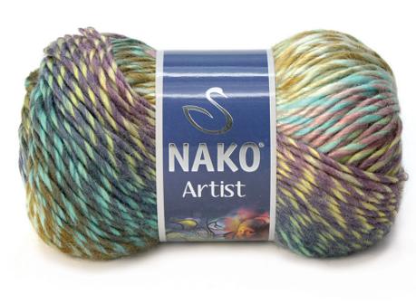 Nako Artist / Артист / 35% шерсть, 65% акрил