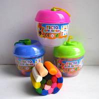 """Тесто для лепки """"Яблочко"""" (18 цветов, общий вес 90 грамм)."""