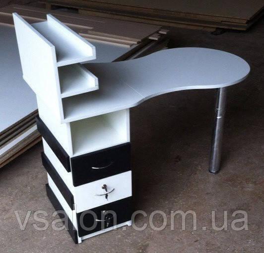 Маникюрный складной стол с декорированной тумбой V42