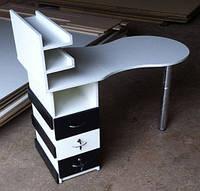 Маникюрный складной стол с декорированной тумбой V42, фото 1