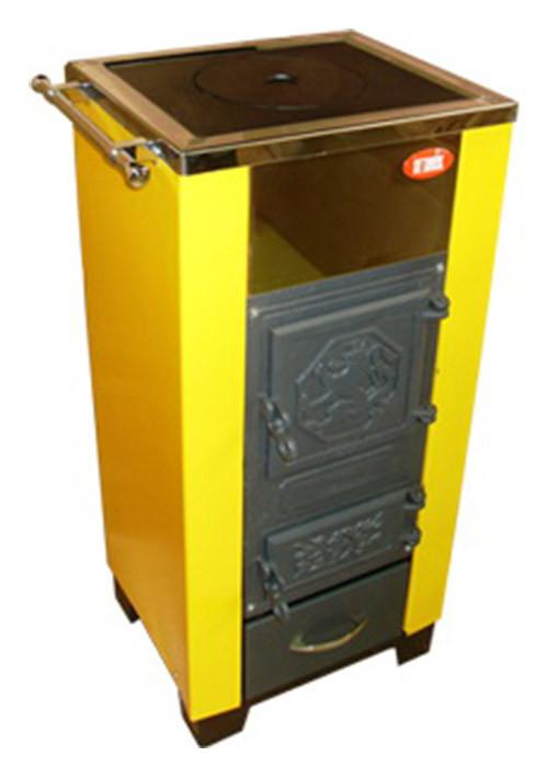 Одноконтурный котёл на твердом топливе (с плитой) КОТВ-20П VIP