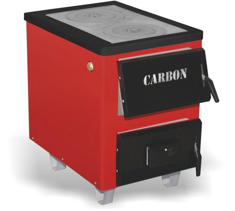 Водяной твердотопливный котел Карбон КСТО-17,5 Тайга с плитой -17,5 кВт