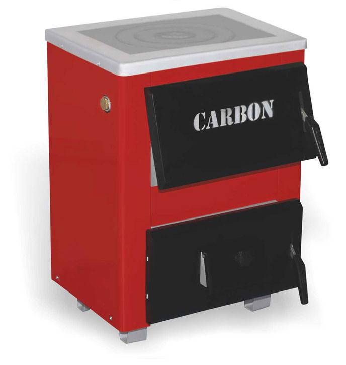 Водяной котел на твердом топливе Carbon КСТО-10п с плитой 10 квт