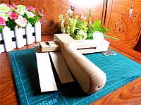 Нож для порезки кожи на полосы деревянный