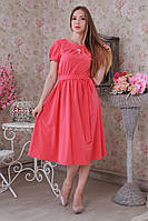 Яркое женское легкое летнее платье р. 48, 50, 52.