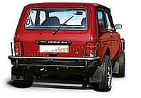 Защита заднего бампера  дуга (крашенная) без калитки с защитой фонарей D60 на Lada Niva 2131-21314