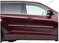 Молдинги боковые с хром вставкой Toyota Highlander 2014-on