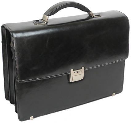 Кожаный портфель под ноутбук VERUS 120A черный