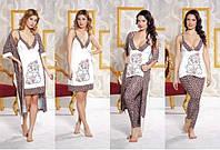 Домашняя одежда Lady Lingerie Комплект 13100 ST (4 предмета)