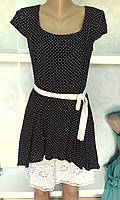 Летнее женское платье с прошвой
