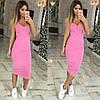 Облегающее трикотажное платье-майка с декольте, фото 3