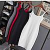 Облегающее трикотажное платье-майка с декольте, фото 9