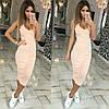 Облегающее трикотажное платье-майка с декольте, фото 4
