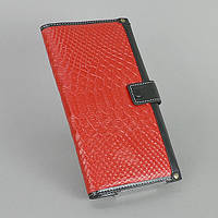 Красный кошелек 033 red женский кожаный на кнопке, фото 1