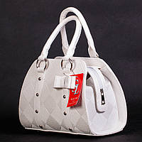 Белая женская сумочка - матовый боченок
