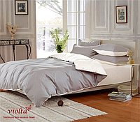 Пошив постельного белья из ткани: сатин люкс, серый белый, однотонный
