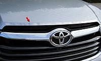 Хром накладка на капот Toyota Highlander 2014-on