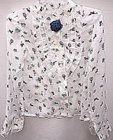 Блуза школьная с стильным принтом 0507/8