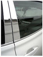Хром накладки дверных стоек 8 эл. Toyota Highlander 2014-on