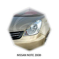 Реснички на фары Nissan NOTE 2008+ г.в. Нисан Ноут