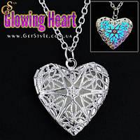 """Прикраса на шию - """"Glowing Heart"""" + подарункова упаковка, фото 1"""