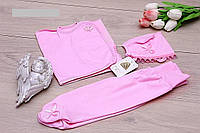 Набор на выписку для новорожденных Бусинка, розовый