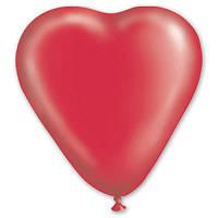 """Латексные шары  сердце 5"""" кристалл красный. Шары оптом."""