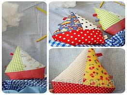 Кораблики из ткани - великолепная игрушка для деток!