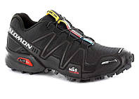 Кроссовки для бега Salomon SPEEDCROSS 3 GTX BLACK/BLACK/SI (MD 15)