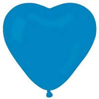 """Латексные шары  сердце 10"""" пастель синее, шары оптом"""
