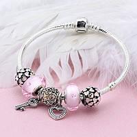 Подарочный браслет любовь в стиле Pandora