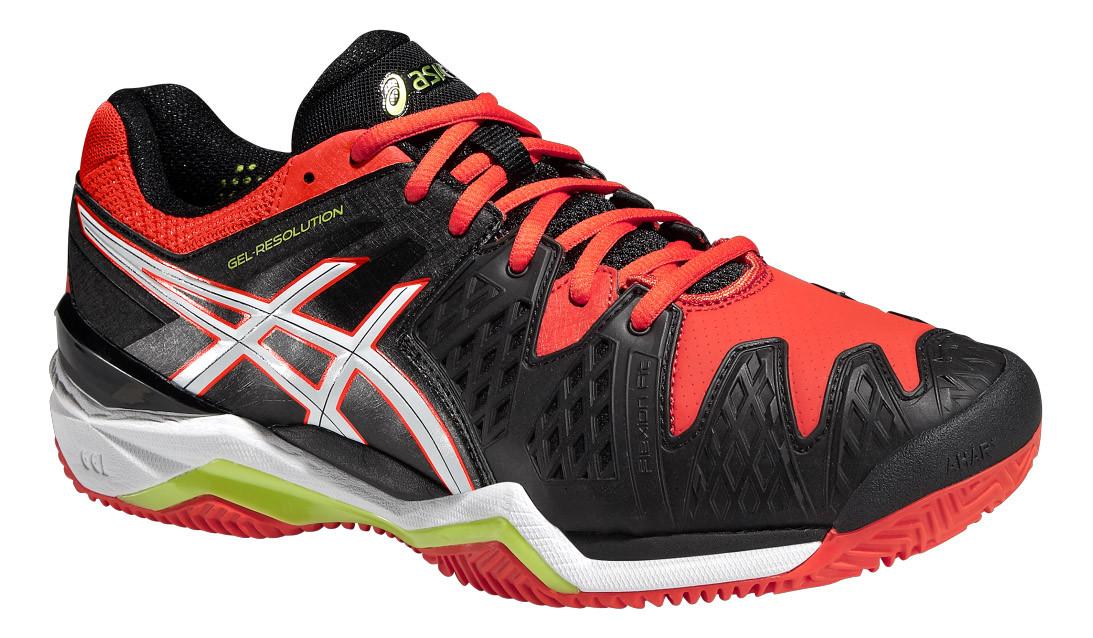 Кроссовки для тенниса мужские Asics GELESOLUTION 6 CLAY BLK/WHT M (MD)