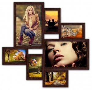 Деревянные эко мультирамки на 5-7 фото