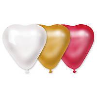 """Латексные шары  сердце 5"""" металлик. Шары оптом."""