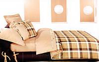 """733 Шотландка коричневая Постель ТЕП """"Колорит"""" Premium евро"""
