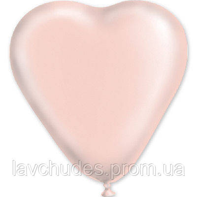 """Латексные шары  сердце 5"""" пастель розовое. Шары оптом."""