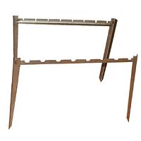 Подставка под шампура (на 8 шт.) в землю, сталь, длина 35 см, высота 50 см, 2 штуки в наборе